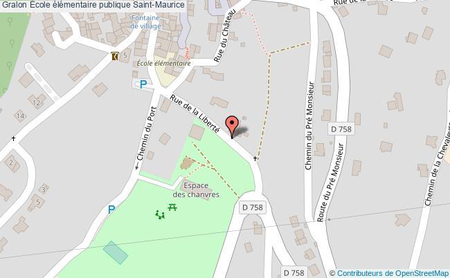 plan École élémentaire Publique Saint-maurice Saint-Maurice