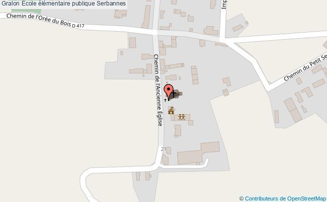 plan École élémentaire Publique Serbannes Serbannes