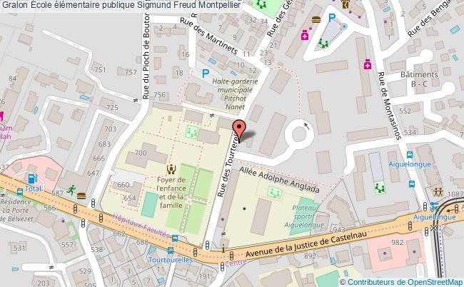 plan École élémentaire Publique Sigmund Freud Montpellier Montpellier