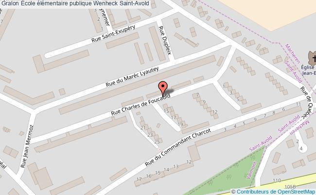 plan École élémentaire Publique Wenheck Saint-avold Saint-Avold