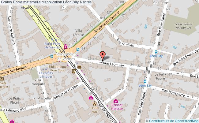 plan École Maternelle D'application Léon Say Nantes Nantes