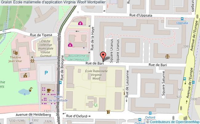 plan École Maternelle D'application Virginia Woolf Montpellier Montpellier