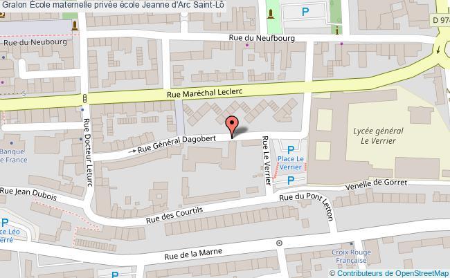 plan École Maternelle Privée école Jeanne D'arc Saint-lô Saint-Lô