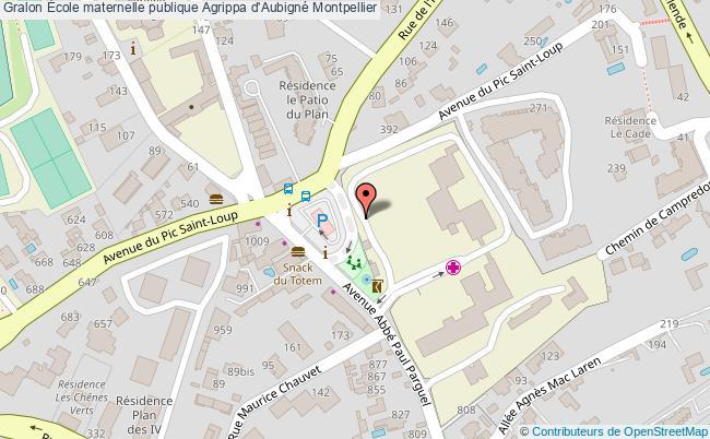 plan École Maternelle Publique Agrippa D'aubigné Montpellier Montpellier