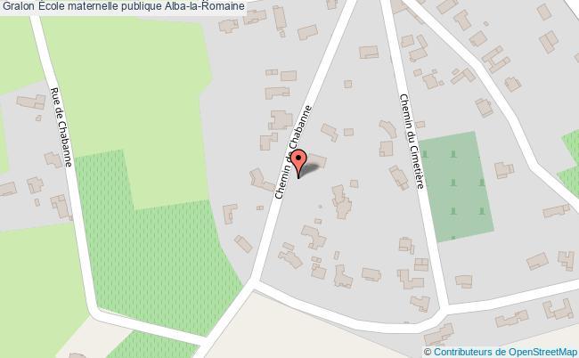 plan École Maternelle Publique Alba-la-romaine Alba-la-Romaine