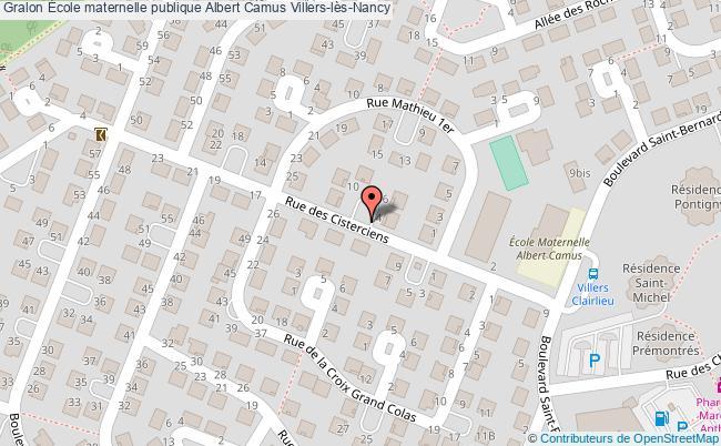 plan École Maternelle Publique Albert Camus Villers-lès-nancy Villers-lès-Nancy