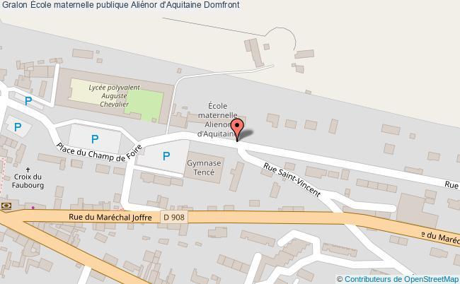 plan École Maternelle Publique Aliénor D'aquitaine Domfront Domfront