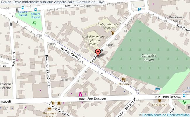 plan École Maternelle Publique Ampère Saint-germain-en-laye Saint-Germain-en-Laye