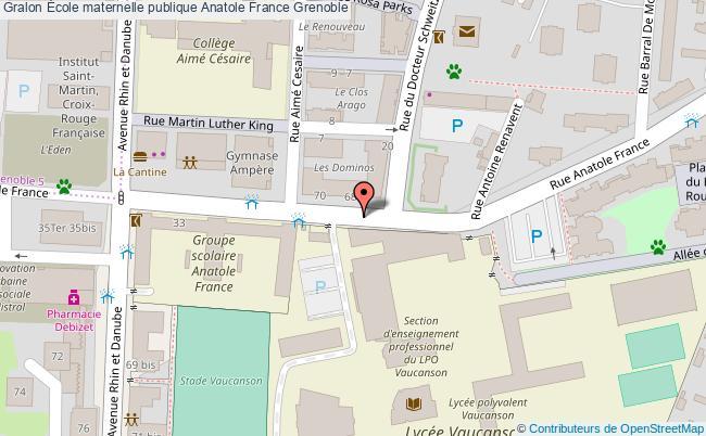 plan École Maternelle Publique Anatole France Grenoble Grenoble