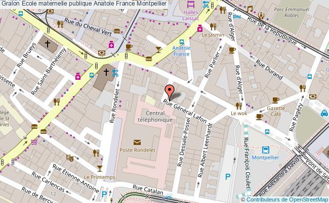 plan École Maternelle Publique Anatole France Montpellier Montpellier