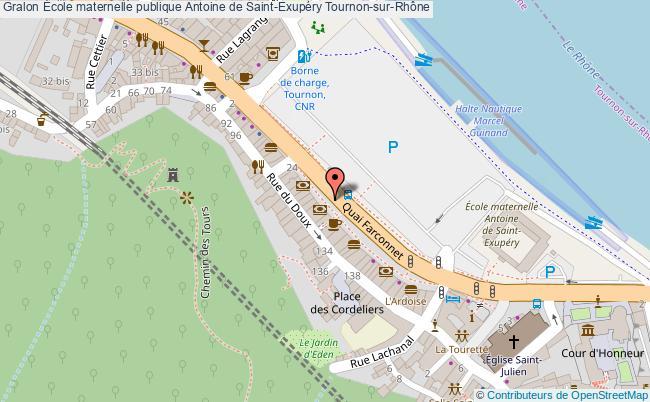 plan École Maternelle Publique Antoine De Saint-exupéry Tournon-sur-rhône Tournon-sur-Rhône