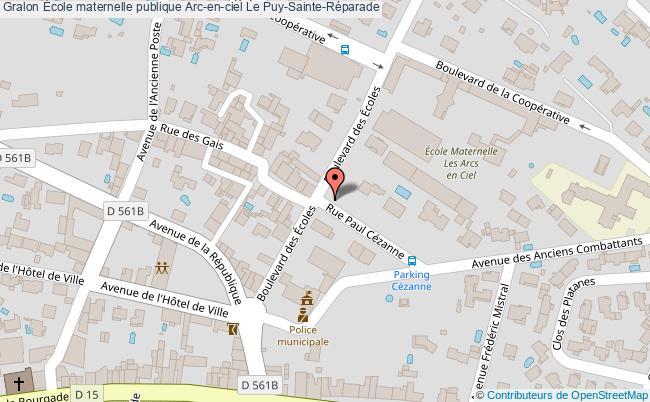 plan École Maternelle Publique Arc-en-ciel Le Puy-sainte-réparade Le Puy-Sainte-Réparade