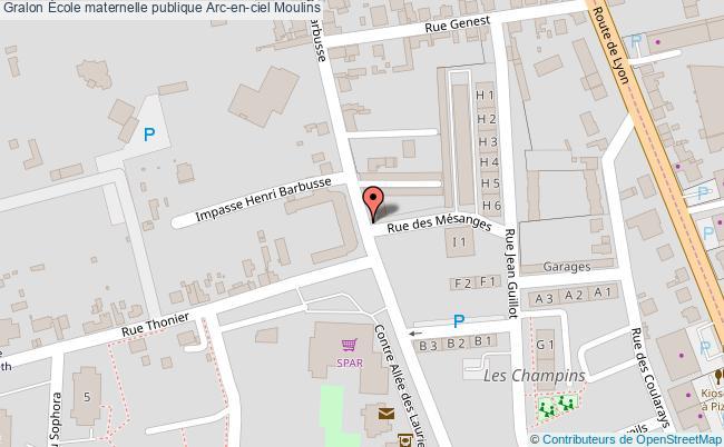 plan École Maternelle Publique Arc-en-ciel Moulins Moulins