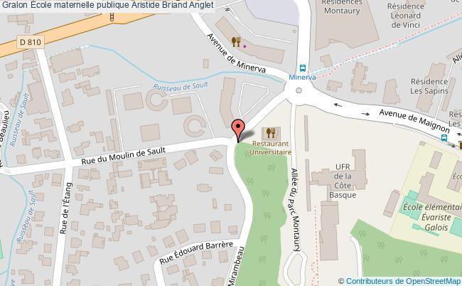 plan École Maternelle Publique Aristide Briand Anglet Anglet