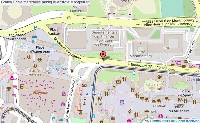 plan École Maternelle Publique Aristote Montpellier Montpellier