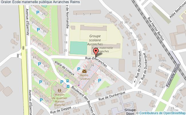 plan École Maternelle Publique Avranches Reims Reims