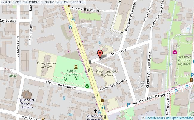 plan École Maternelle Publique Bajatière Grenoble Grenoble