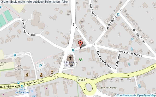 plan École Maternelle Publique Bellerive-sur-allier Bellerive-sur-Allier