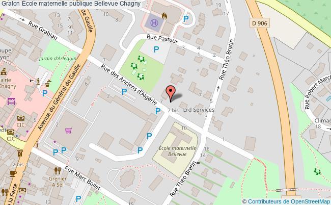 plan École Maternelle Publique Bellevue Chagny Chagny