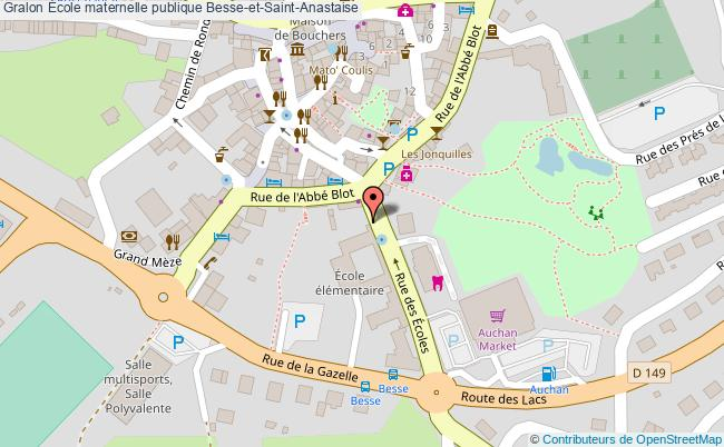 plan École Maternelle Publique Besse-et-saint-anastaise Besse-et-Saint-Anastaise