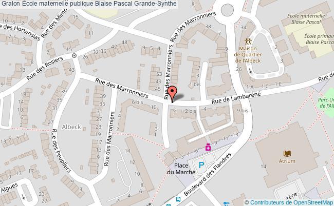 plan École Maternelle Publique Blaise Pascal Grande-synthe Grande-Synthe