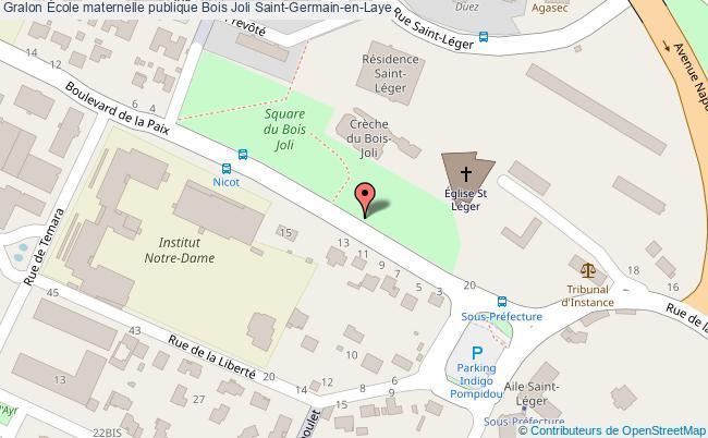 plan École Maternelle Publique Bois Joli Saint-germain-en-laye Saint-Germain-en-Laye