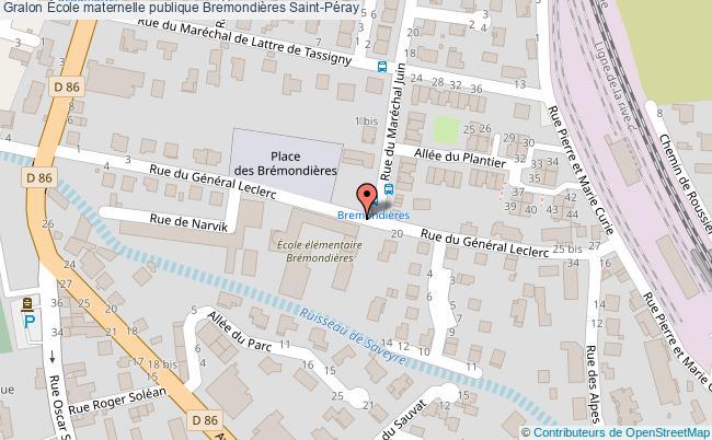 plan École Maternelle Publique Bremondières Saint-péray Saint-Péray