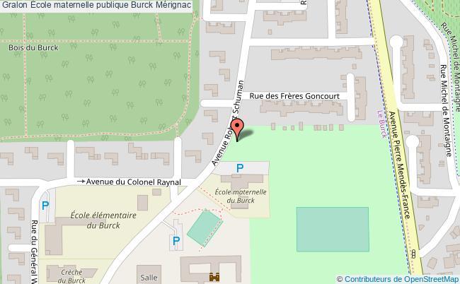 plan École Maternelle Publique Burck Mérignac Mérignac