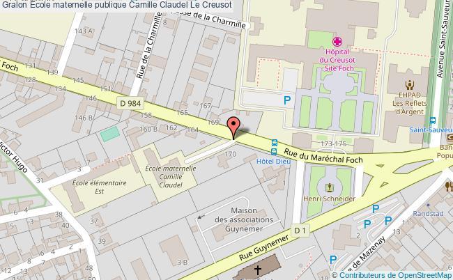 plan École Maternelle Publique Camille Claudel Le Creusot Le Creusot