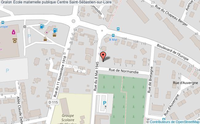plan École Maternelle Publique Centre Saint-sébastien-sur-loire Saint-Sébastien-sur-Loire