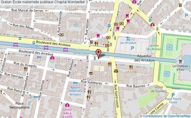 plan École Maternelle Publique Chaptal Montpellier Montpellier