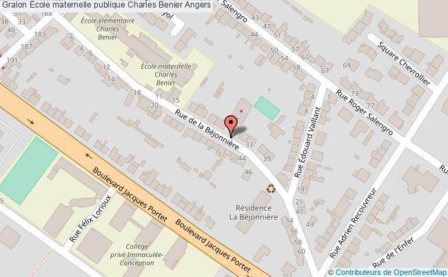 plan École Maternelle Publique Charles Benier Angers Angers
