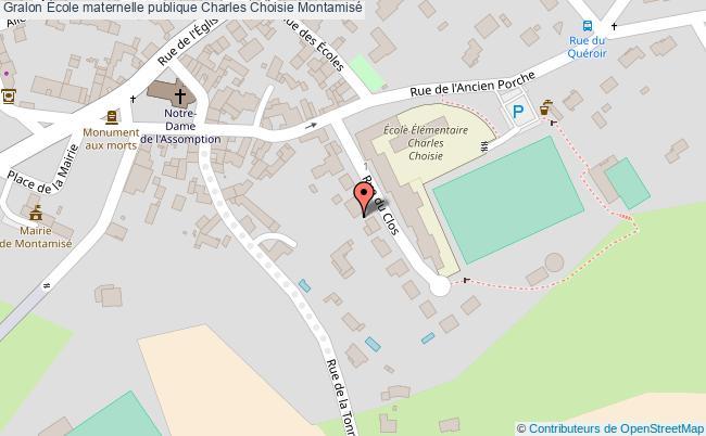plan École Maternelle Publique Charles Choisie Montamisé Montamisé