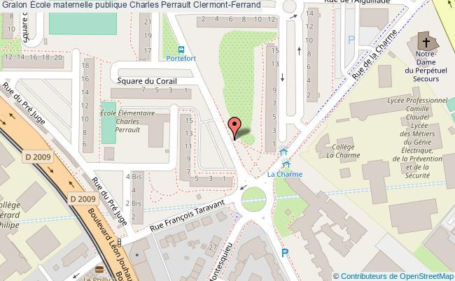 plan École Maternelle Publique Charles Perrault Clermont-ferrand Clermont-Ferrand