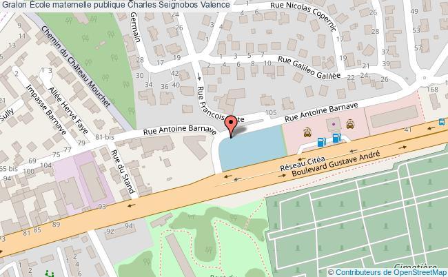 plan École Maternelle Publique Charles Seignobos Valence Valence