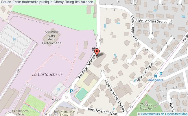plan École Maternelle Publique Chony Bourg-lès-valence Bourg-lès-Valence