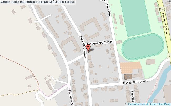plan École Maternelle Publique Cité Jardin Lisieux Lisieux