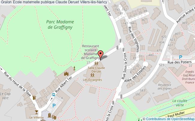 plan École Maternelle Publique Claude Deruet Villers-lès-nancy Villers-lès-Nancy