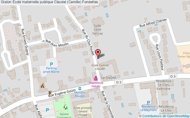 plan École Maternelle Publique Claudel (camille) Fondettes Fondettes