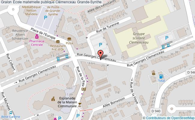 plan École Maternelle Publique Clémenceau Grande-synthe Grande-Synthe