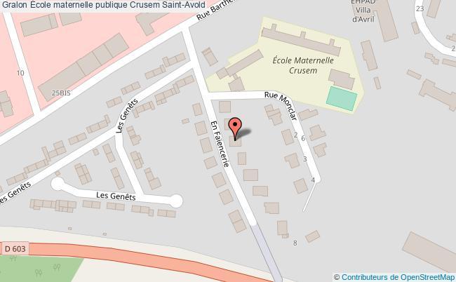 plan École Maternelle Publique Crusem Saint-avold Saint-Avold