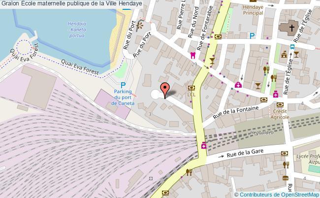 plan École Maternelle Publique De La Ville Hendaye Hendaye