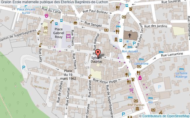 plan École Maternelle Publique Des Eterlous Bagnères-de-luchon Bagnères-de-Luchon