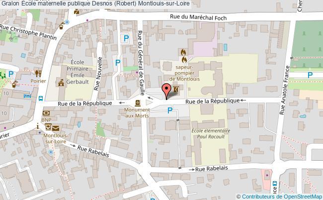 plan École Maternelle Publique Desnos (robert) Montlouis-sur-loire Montlouis-sur-Loire