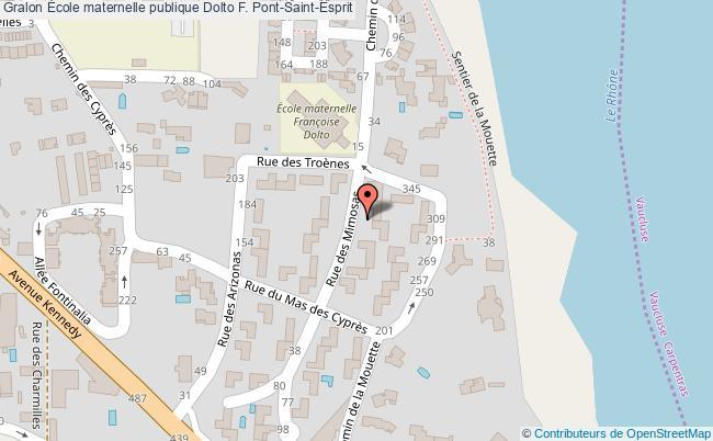 plan École Maternelle Publique Dolto F. Pont-saint-esprit Pont-Saint-Esprit