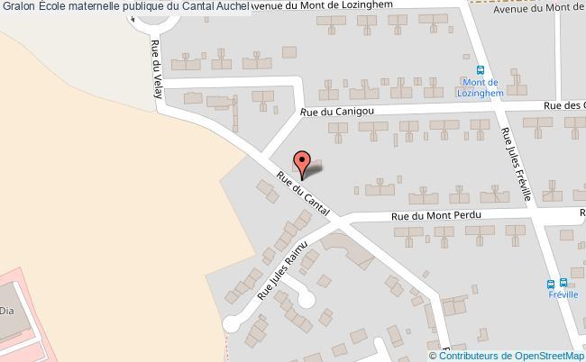 plan École Maternelle Publique Du Cantal Auchel Auchel