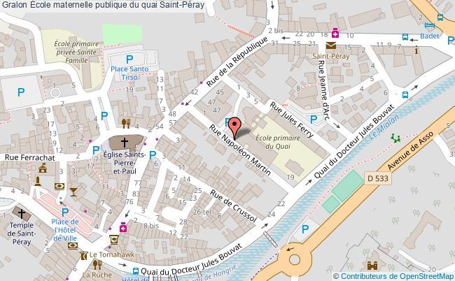 plan École Maternelle Publique Du Quai Saint-péray Saint-Péray