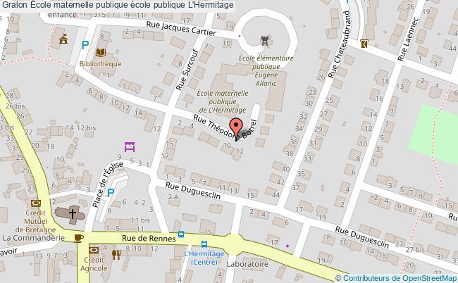 plan École Maternelle Publique école Publique L'hermitage L'Hermitage