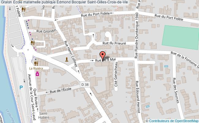 plan École Maternelle Publique Edmond Bocquier Saint-gilles-croix-de-vie Saint-Gilles-Croix-de-Vie