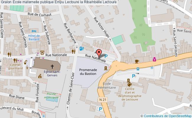 plan École Maternelle Publique Empu Lectoure La Ribambelle Lectoure Lectoure